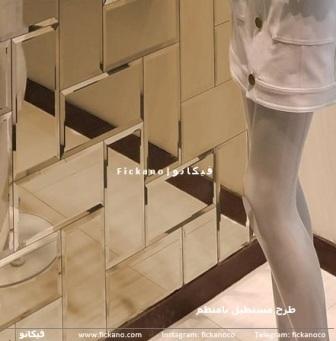 آینه دکوراتیو|مستطیل نامنظم