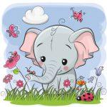 عکس فیل و گل