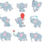 عکس جمعی بچه فیل ها