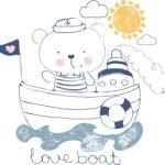 خرس رو قایق