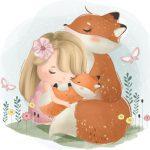 روبا ه با دختر