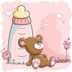 بچه خرس و شیشه شیر