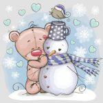 خرس و آدم برفی