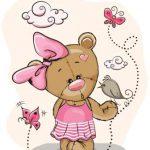 خرس دختر با پاپیون