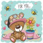 بچه خرس و گلدان