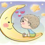 عکس ماه و پسر