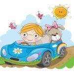 دختر و ماشین