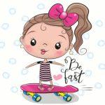 دختر اسکیت سوار