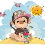 میمون بامزه