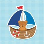 خرس و قایق