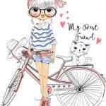 دختر با دوچرخه