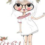 دختر با تاج گل