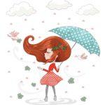 دختر در باد