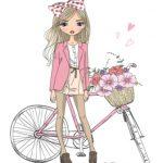 دختر و دوچرخه