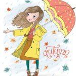 دختر و چتر