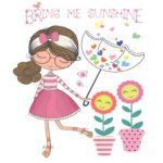 دختر با چتر گلدان