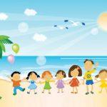 عکس کودکان در ساحل