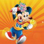 میکی ماوس با گل