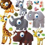عکس کارتونی حیوانات بزرگ