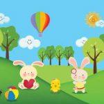 عکس کارتونی خرگوش و جنگل
