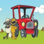 عکس کارتون گوسفندها و سگ مزرعه