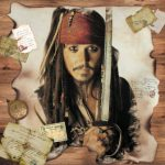 عکس دزد دریایی با شمشیر
