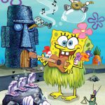 باب اسفنجی با گیتار