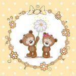 عکس تدی دختر و پسر با گل
