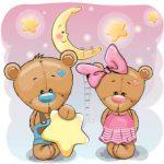 خرس تدی دختر و پسر