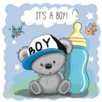 عکس خرس پسر با شیشه شیر