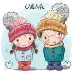 عکس دختر و پسر در زمستان
