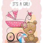 تدی دختر با کالسکه بچه