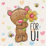 خرس و قلب های رنگی
